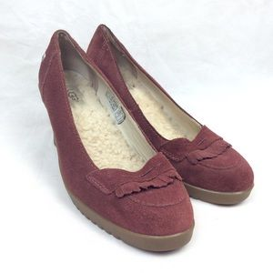 Uggs wedges shoes size 9 red